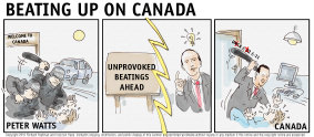 Comic, Beating up on Canada