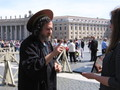 Another photo of St. IGNUcius at the Vatican blessing a bystander's computer.