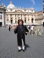 A hallowed profile shot of him at the Vatican holding an assumably free software laptop.